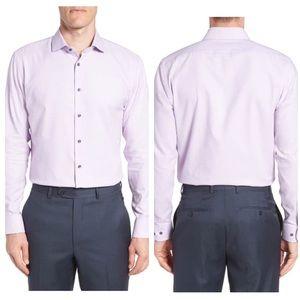 Nordstrom men's purple bloom textured dress shirt